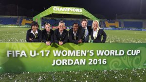 Betty Wong at the U17 Women's World Cup In Jordan